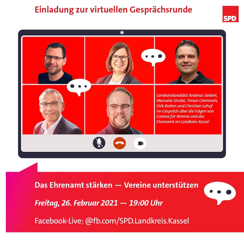 Einladung zur virtuellen Veranstaltung zum Thema Vereine und Ehrenamt